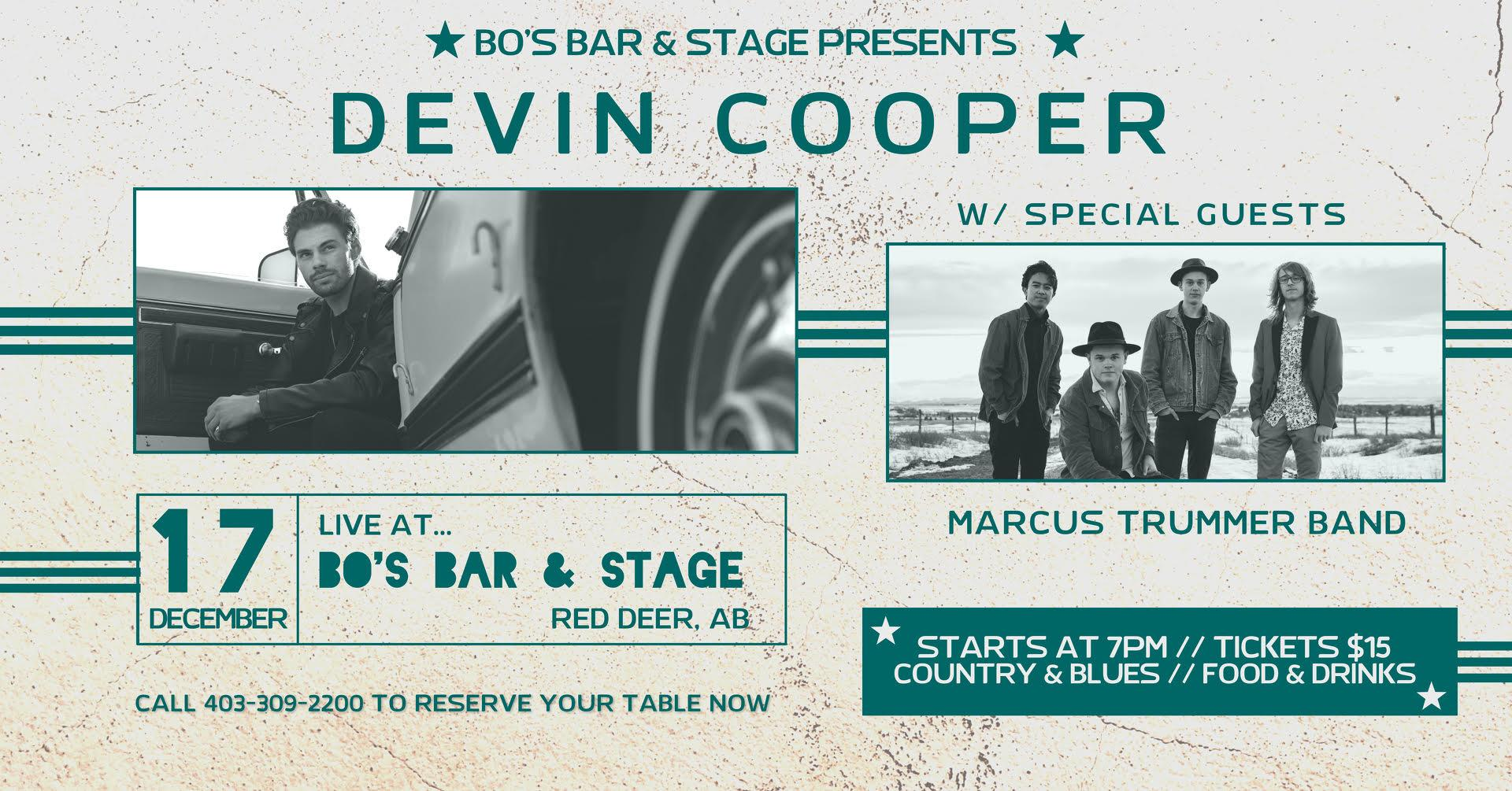 DEVIN COOPER w/ special guests MARCUS TRUMMER BAND